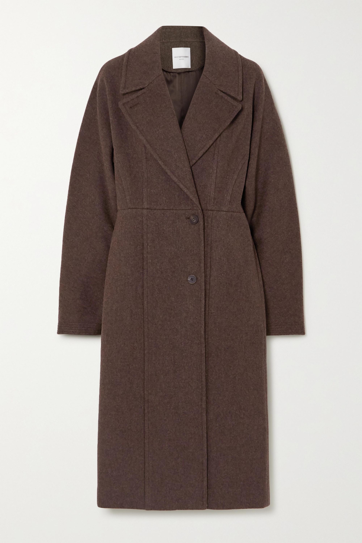 LE 17 SEPTEMBRE Line wool-blend coat
