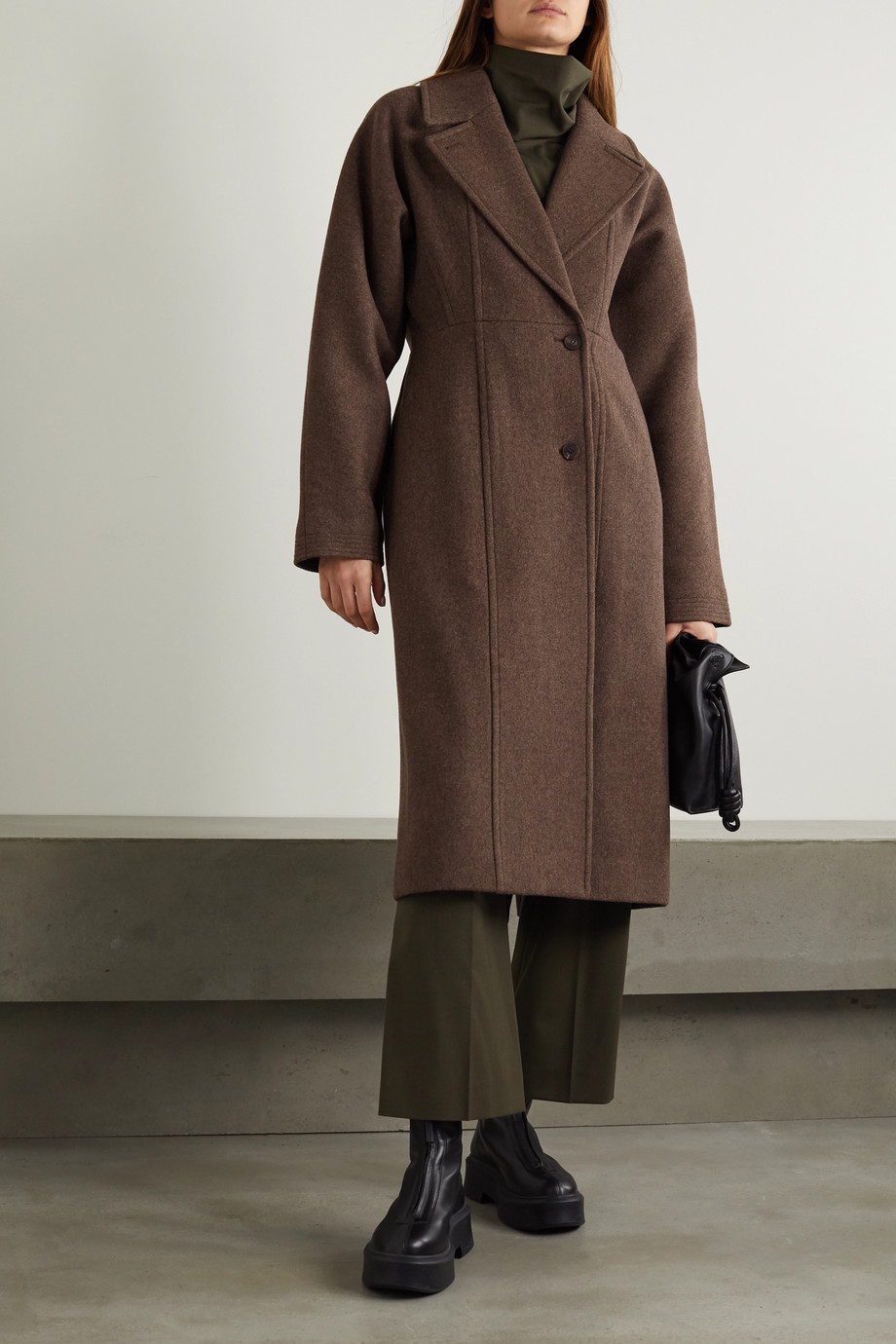 LE 17 SEPTEMBRE Line wool-blend coat