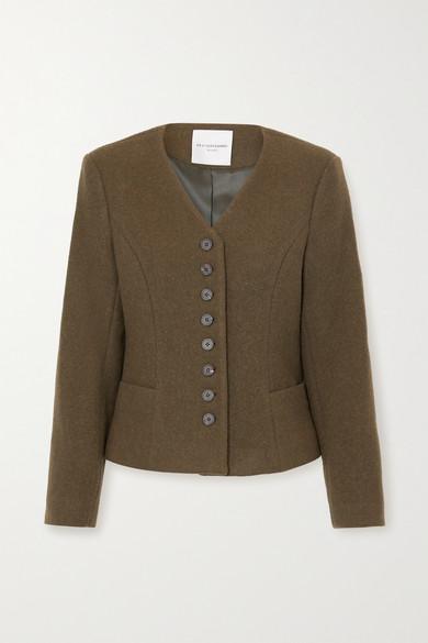 LE 17 SEPTEMBRE - 羊毛混纺外套 - 军绿色 - FR38