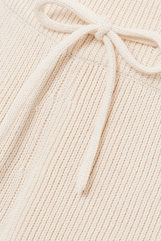 LE 17 SEPTEMBRE Hose mit geradem Bein aus gerippter Baumwolle