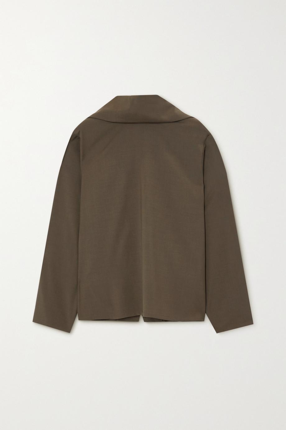 LE 17 SEPTEMBRE Cape-effect cady blouse