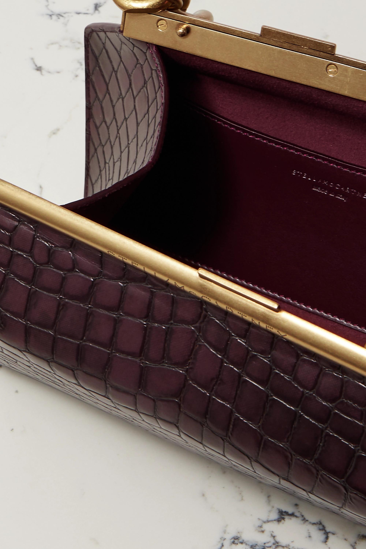 Stella McCartney Chain medium croc-effect vegetarian leather shoulder bag