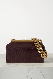 Stella McCartney Chain medium croc-effect vegetarian leather shoulder bag