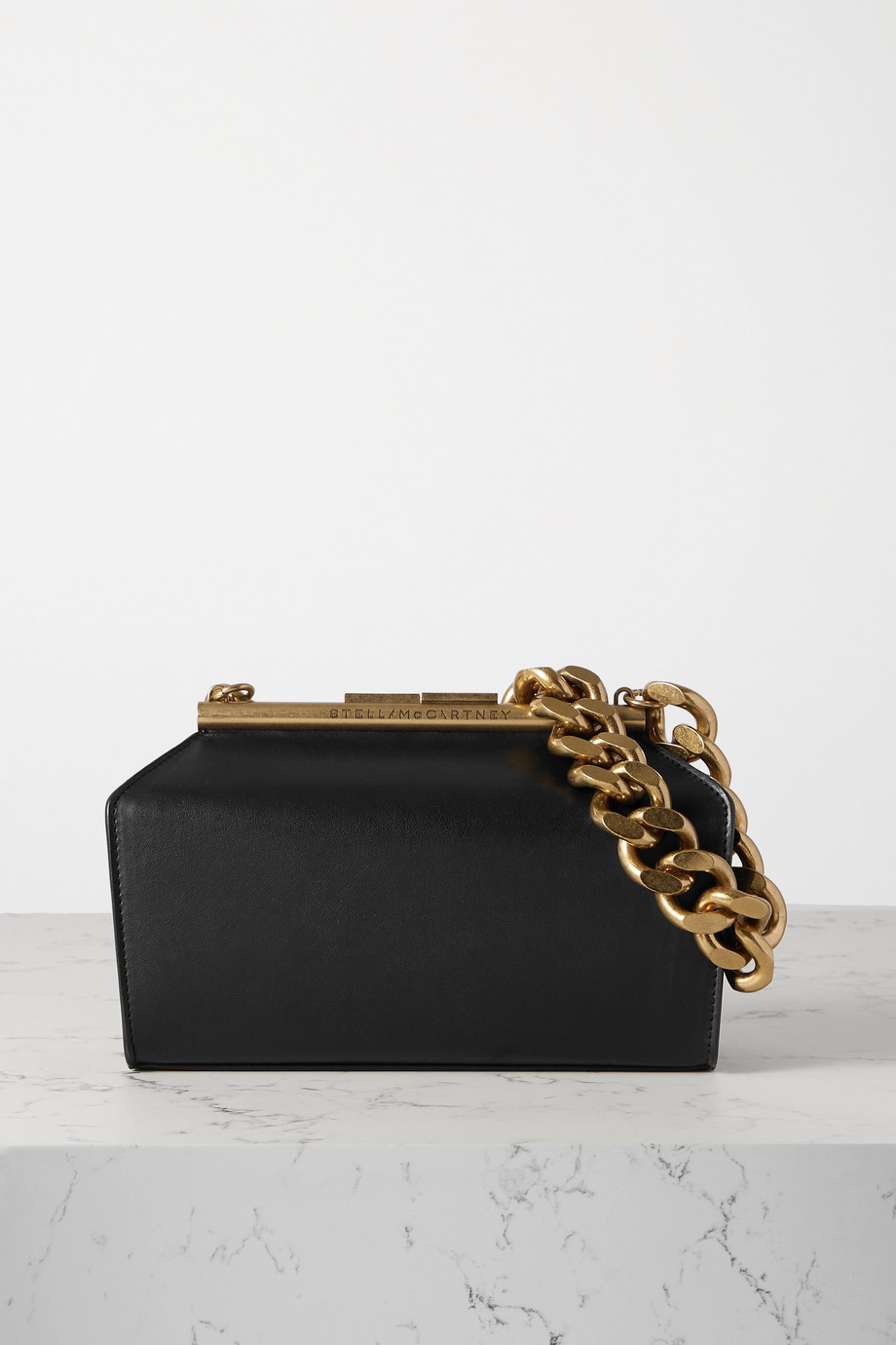 Stella McCartney Chain medium vegetarian leather shoulder bag