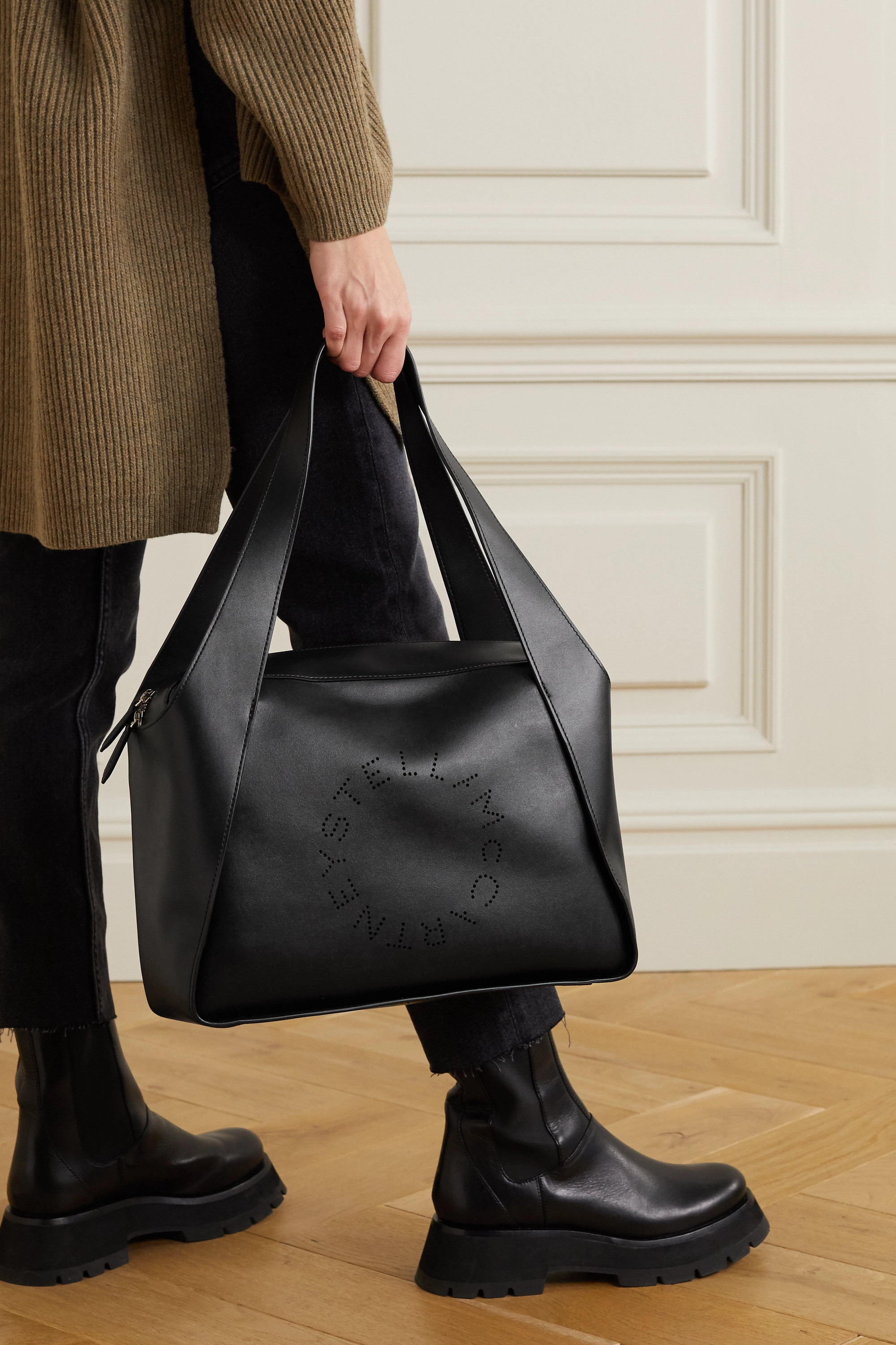 Stella McCartney Sac à main en cuir végétarien à perforations