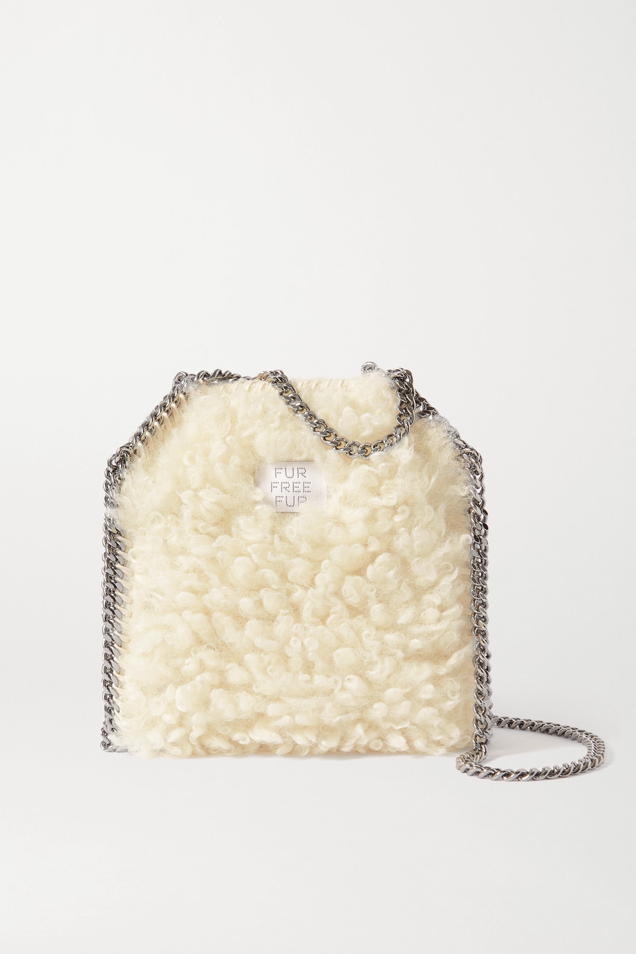 Stella McCartney The Falabella tiny faux shearling tote