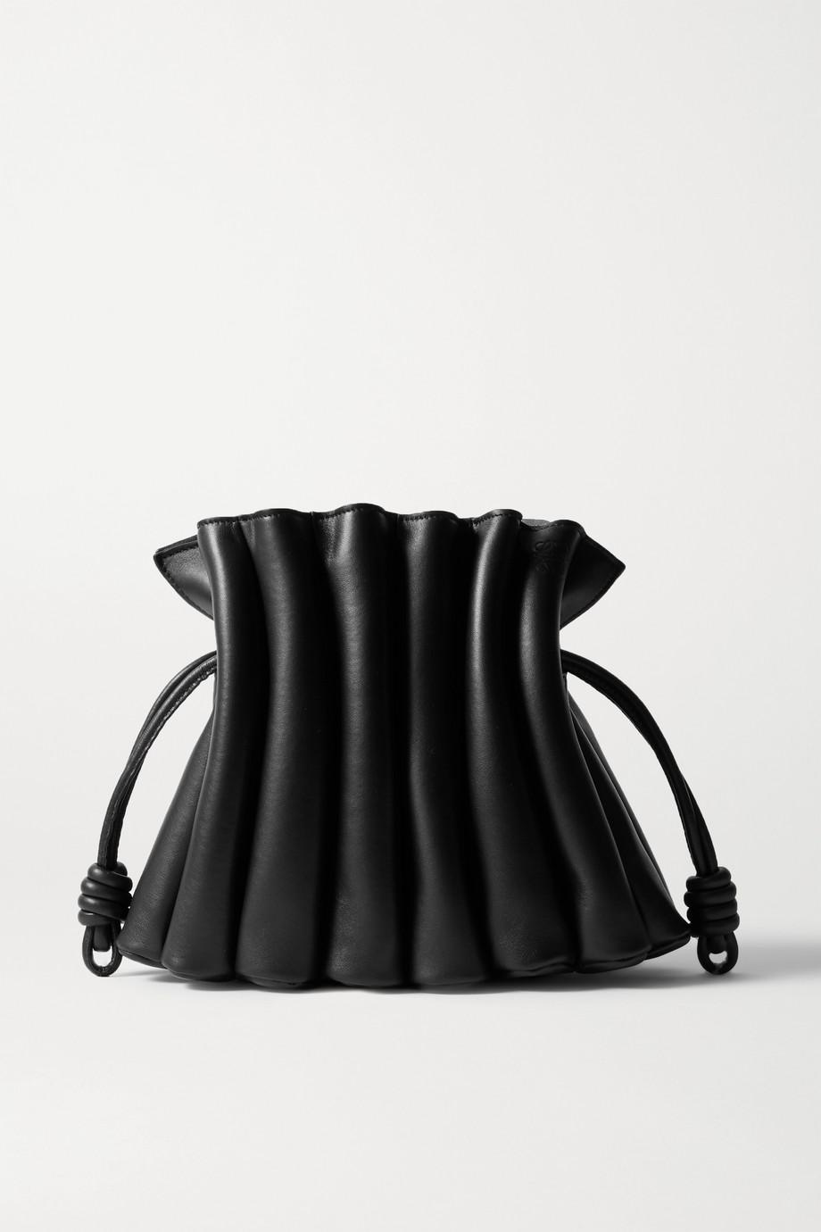 Loewe Flamenco Ondas pleated leather clutch
