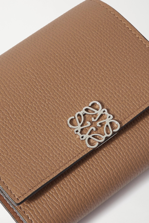 Brown Anagram Textured-leather Wallet | Loewe