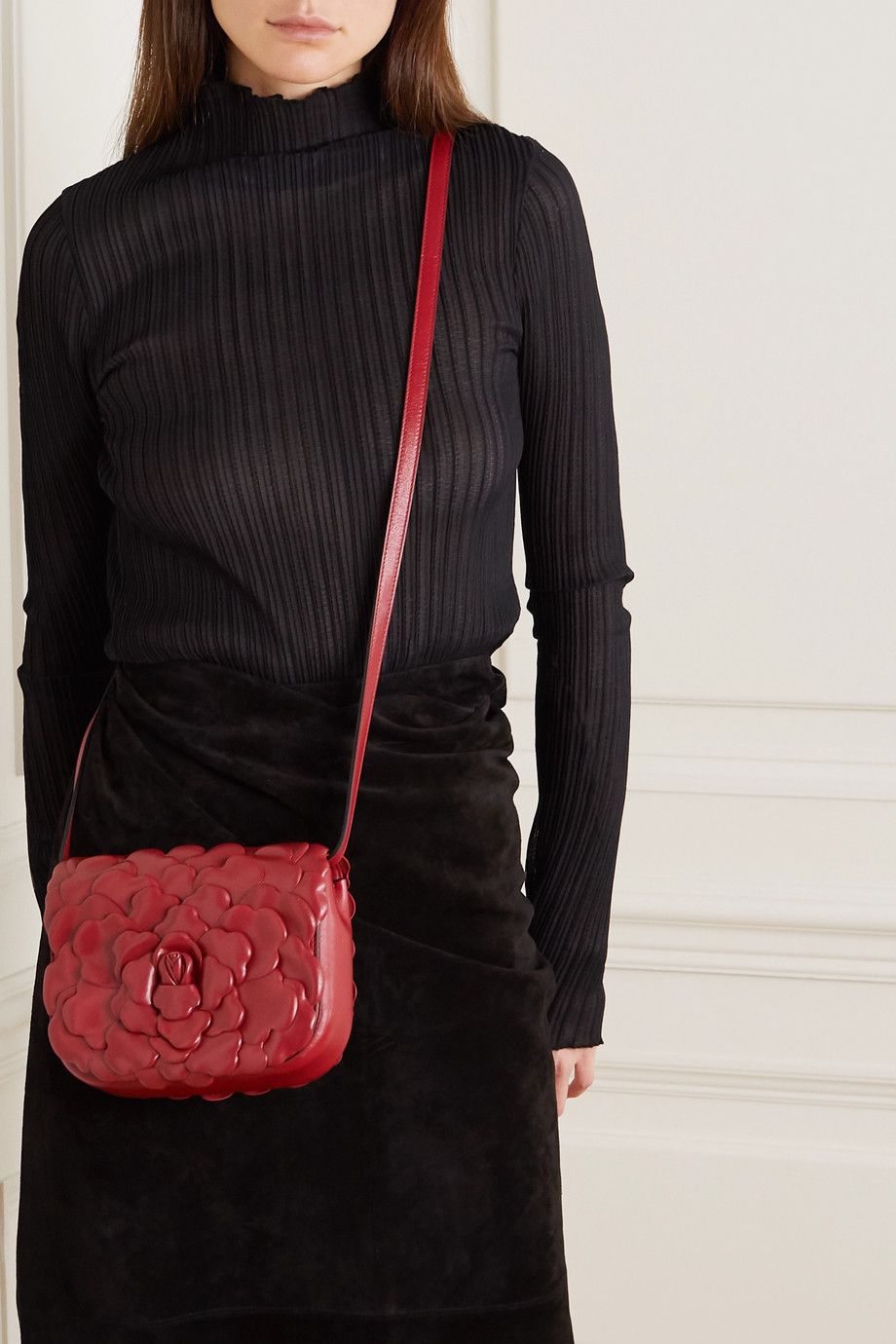 Valentino Valentino Garavani 03 Rose Edition Atelier small leather shoulder bag