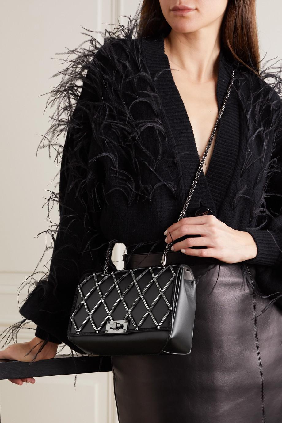 Valentino Valentino Garavani Beehive embellished leather shoulder bag