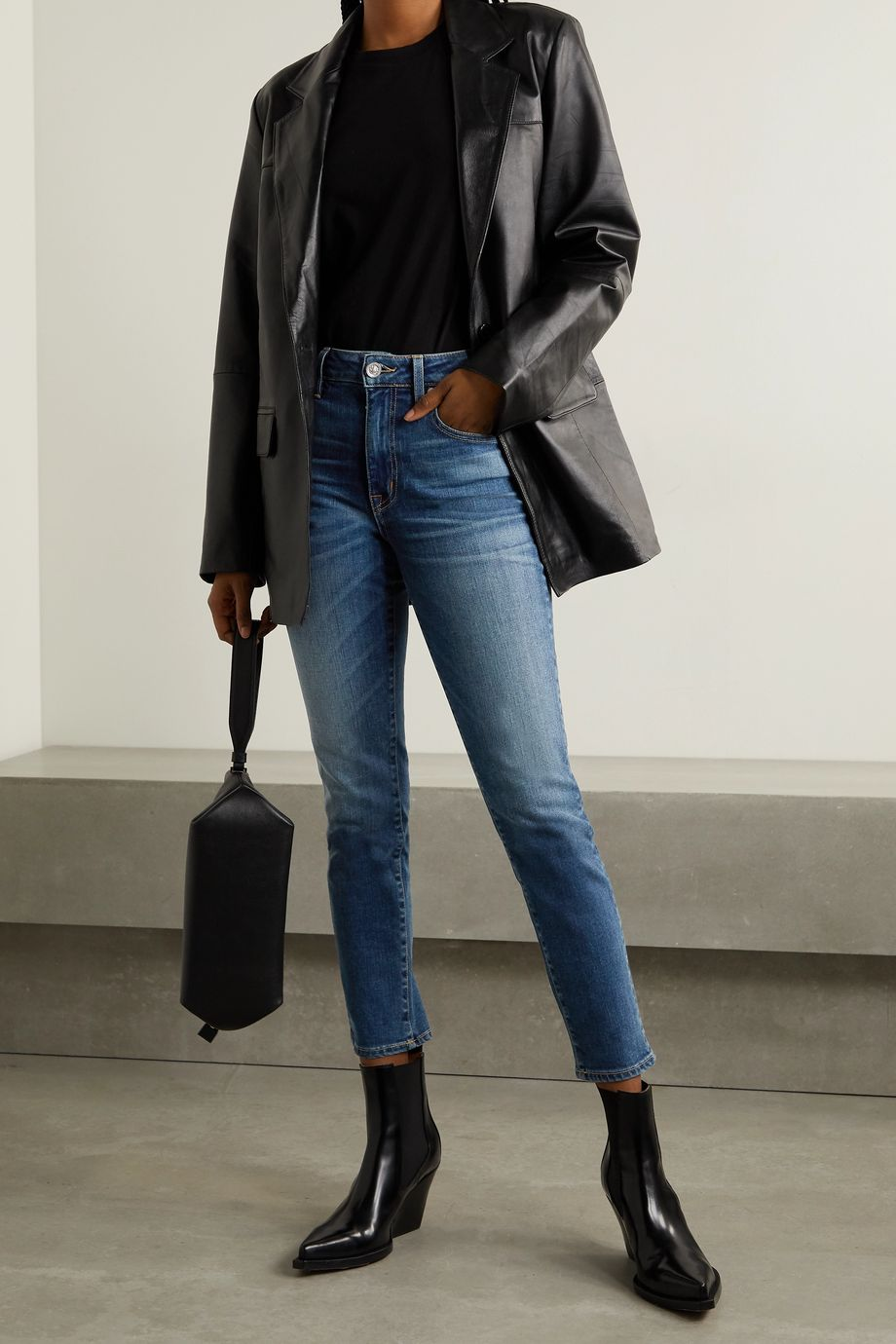 SLVRLAKE Lou Lou cropped high-rise skinny jeans