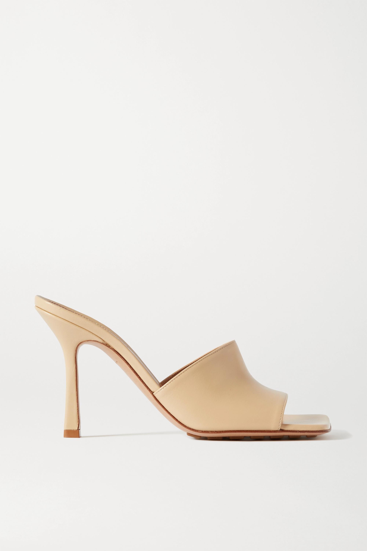 Leather mules by BOTTEGA VENETA, available on net-a-porter.com for $790 Olivia Culpo Shoes SIMILAR PRODUCT