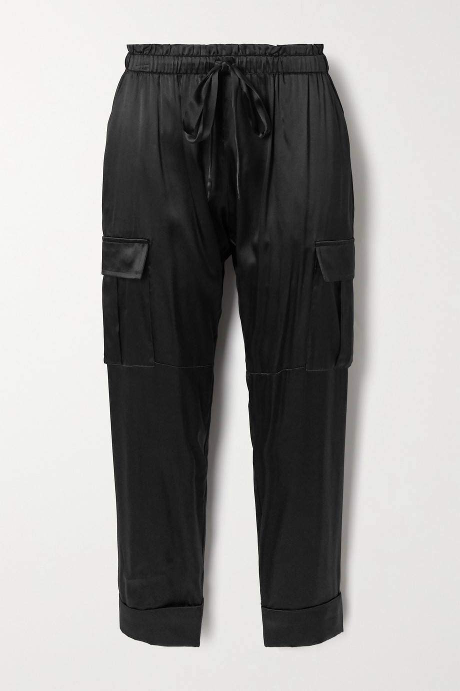 Cami NYC The Carmen silk-blend charmeuse track pants