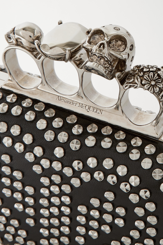 Alexander McQueen Box studded leather clutch