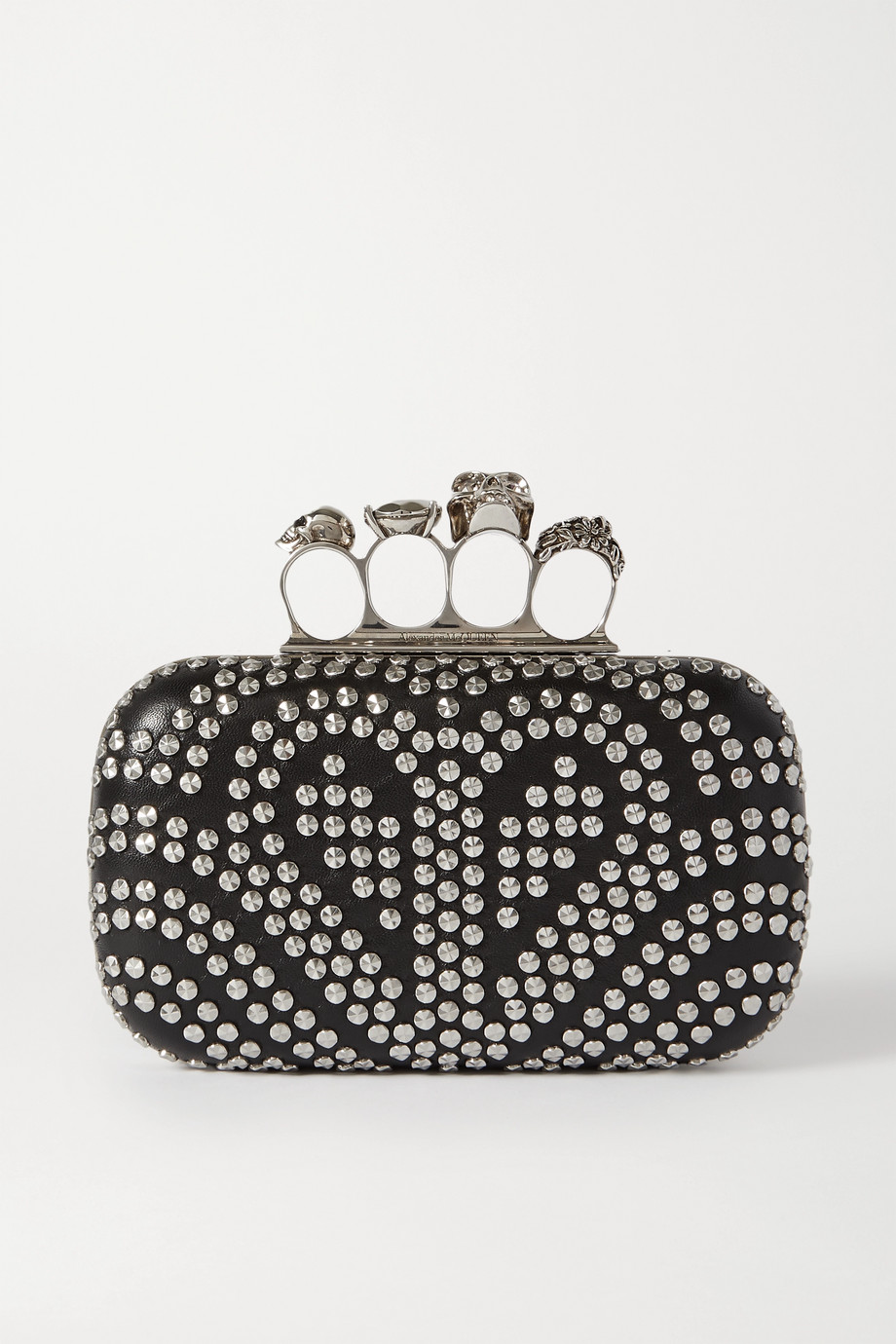 Alexander McQueen Box studded leather clutch