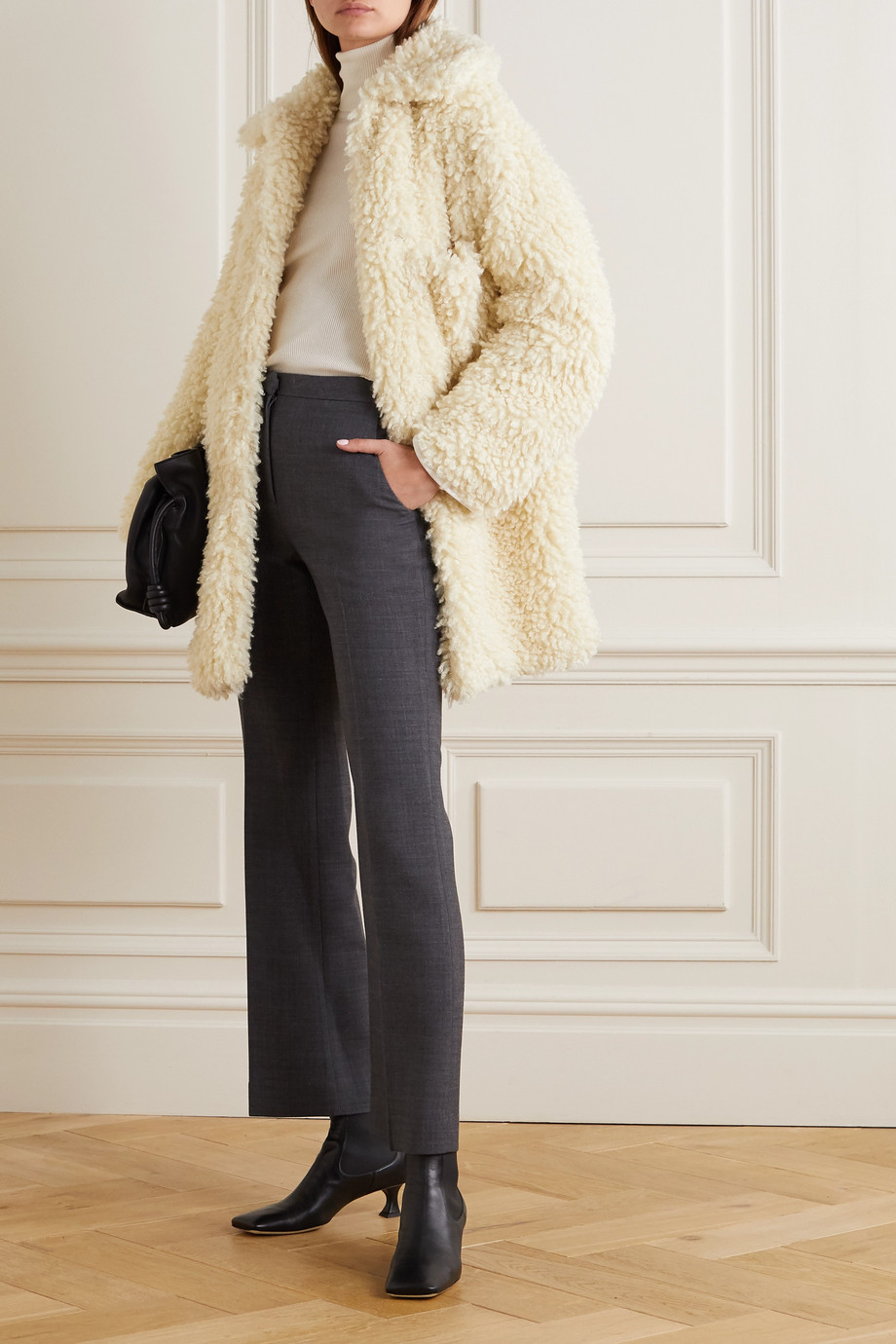 Stella McCartney Oversized-Mantel aus Shearling-Imitat