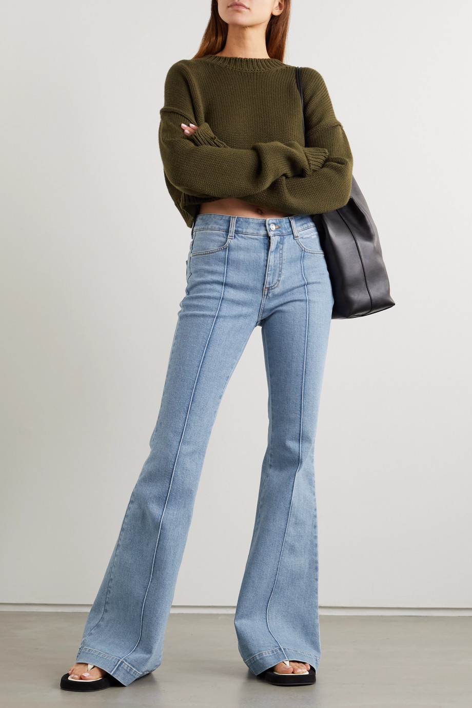 Stella McCartney + NET SUSTAIN The '70s high-rise flared jeans