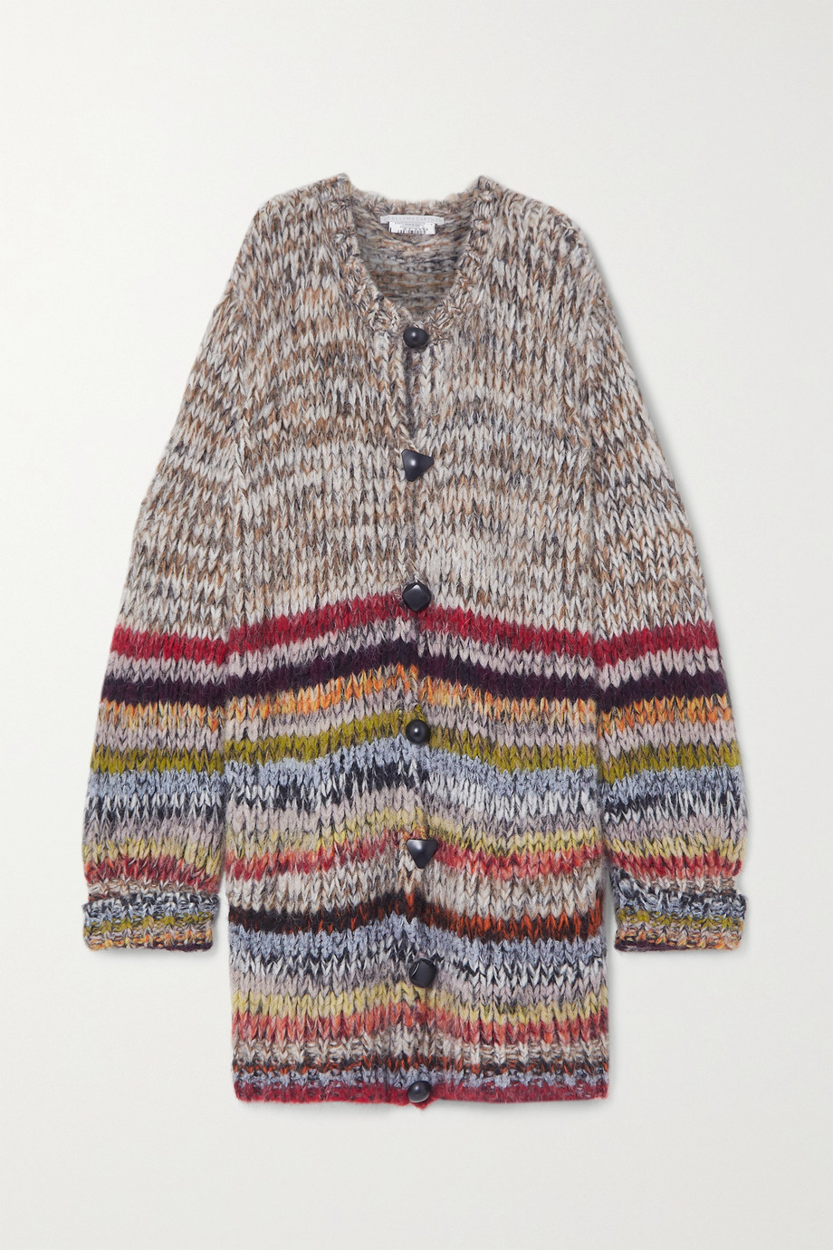Stella McCartney Striped alpaca-blend cardigan
