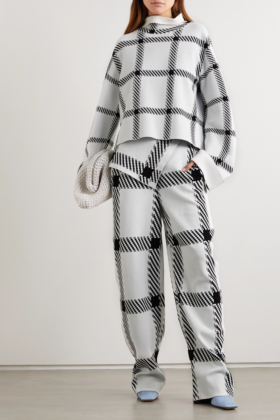 Stella McCartney Checked stretch-knit top