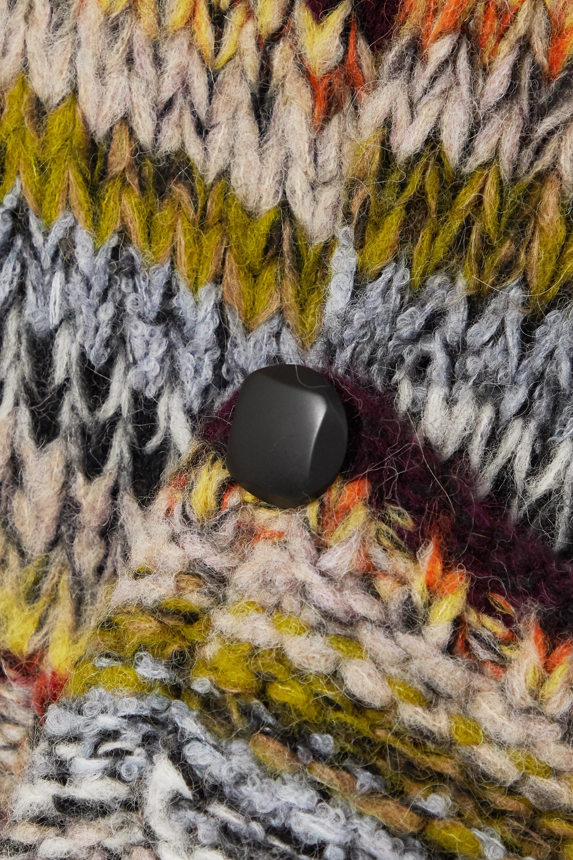 Stella McCartney Pull en alpaga mélangé à rayures et à boutons