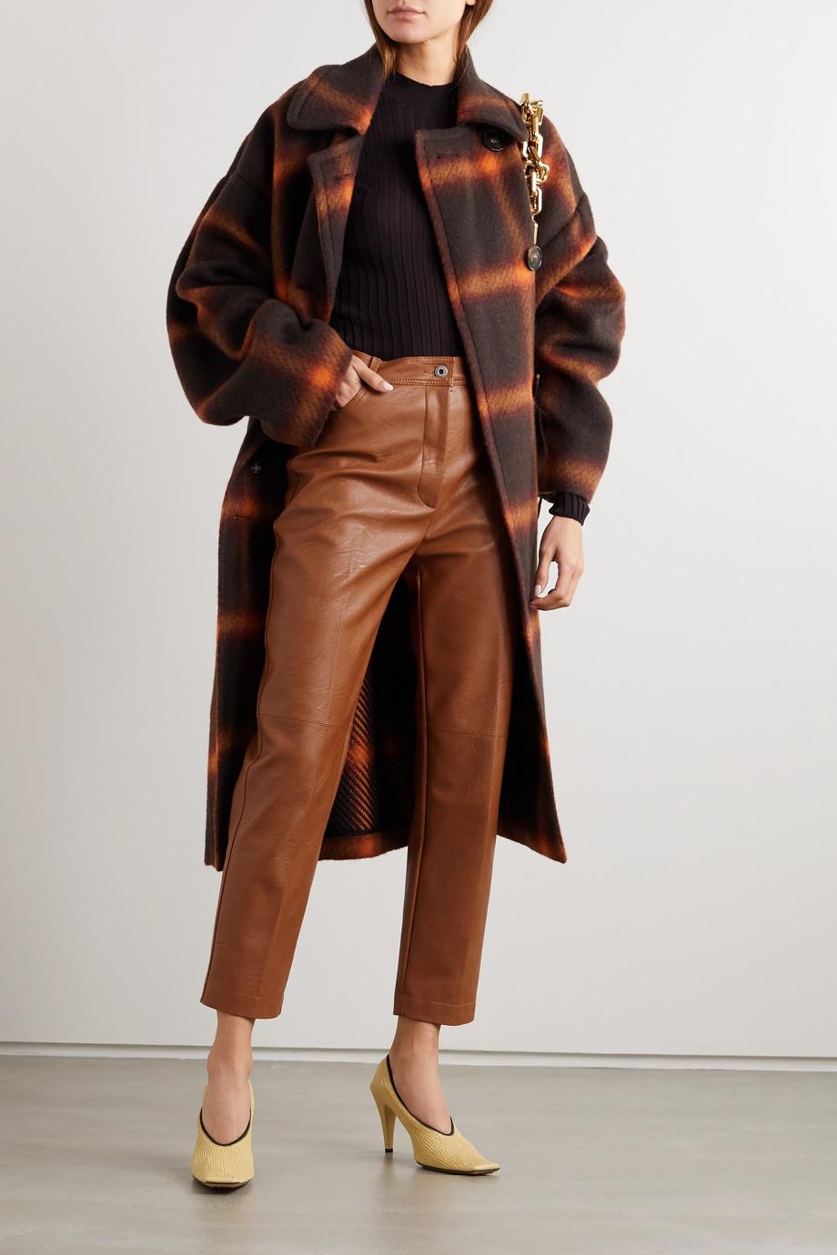 Stella McCartney Pantalon droit en cuir végétarien