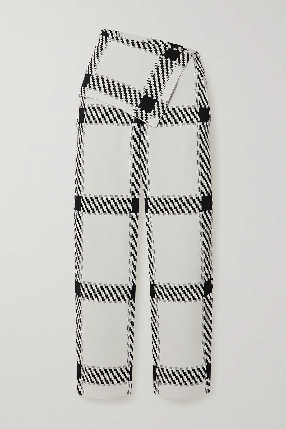 Stella McCartney Checked stretch-knit wide-leg pants