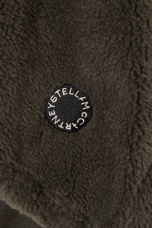 Army Green Faux Shearling Hoodie | Stella Mccartney