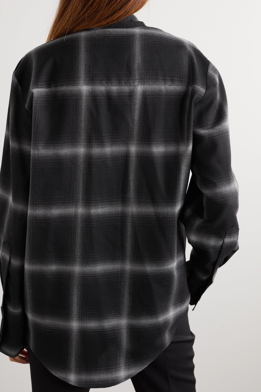 Stella McCartney Amabella checked wool-twill shirt
