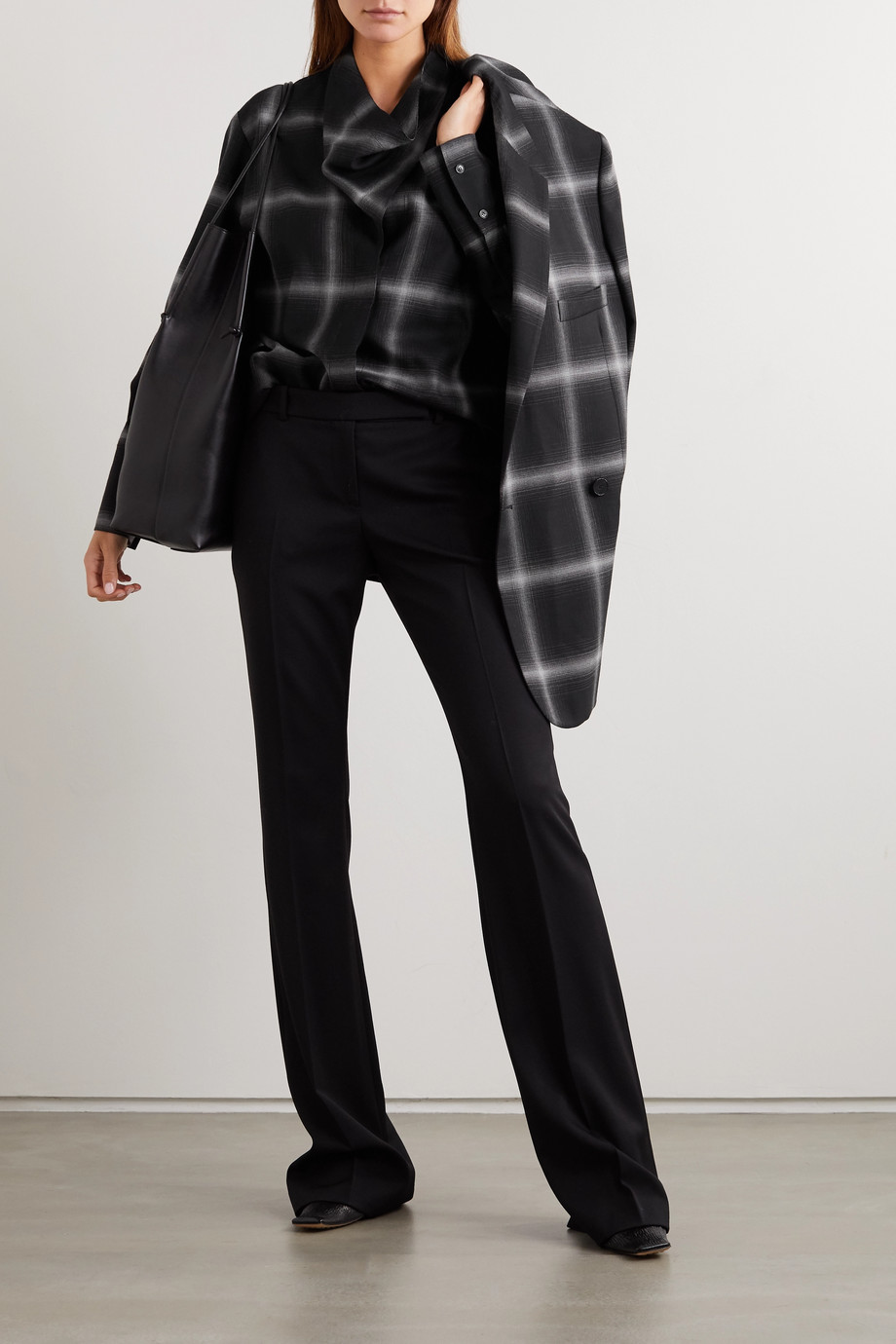 Stella McCartney Amabella checked wool-twill shirt