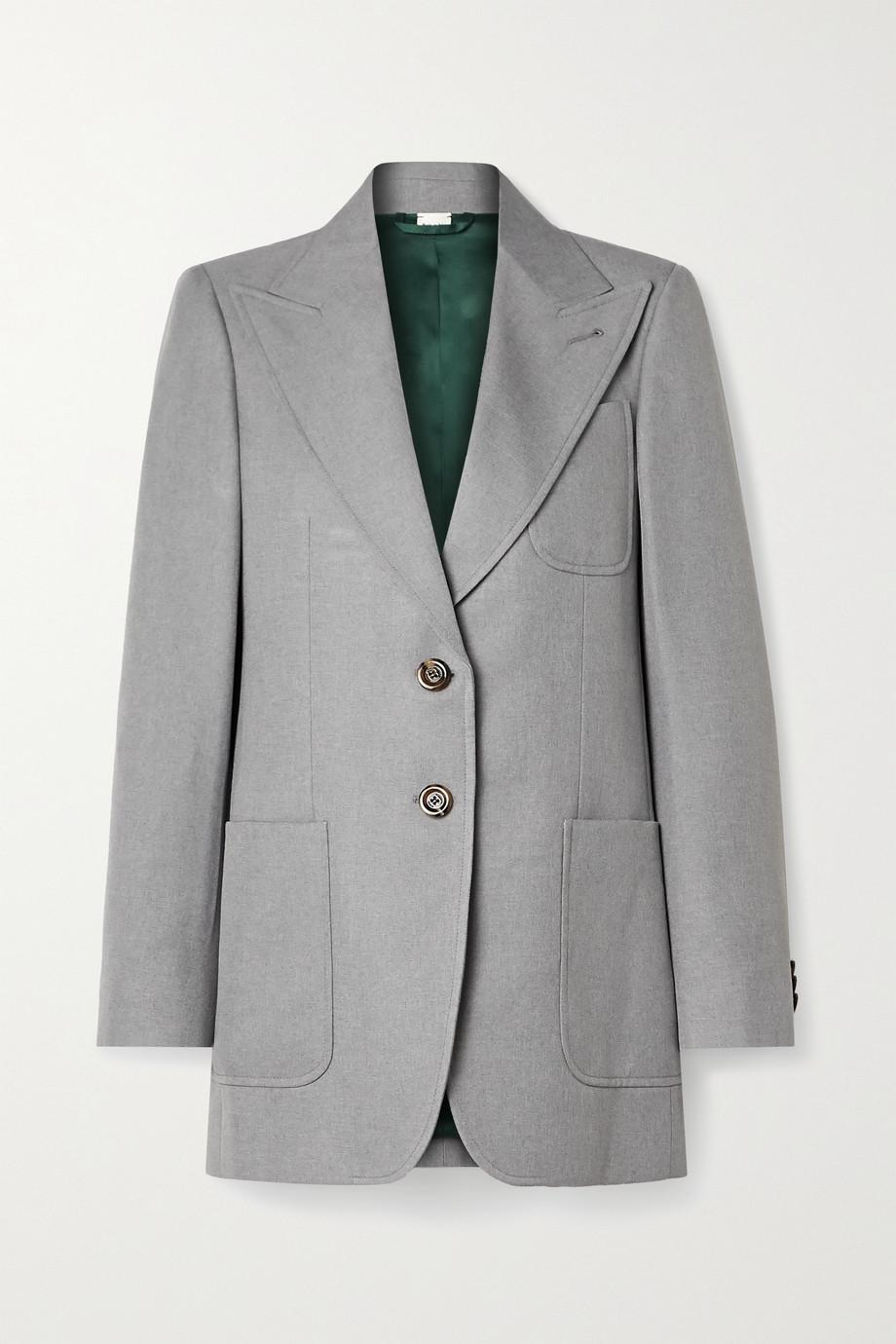 Gucci 大廓形梭织西装外套