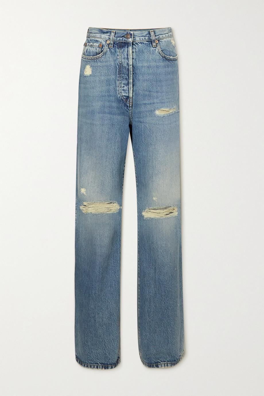 Gucci Distressed organic boyfriend jeans