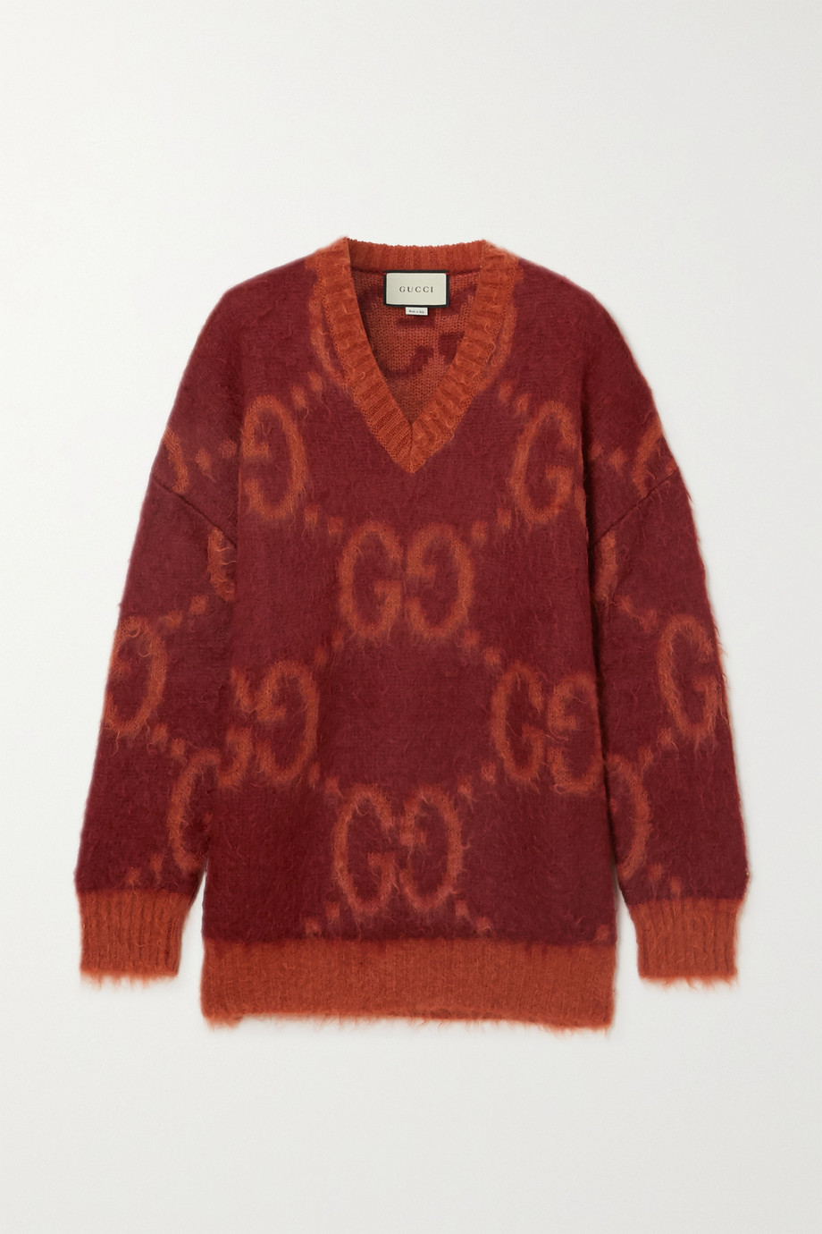 Gucci Intarsia mohair-blend sweater