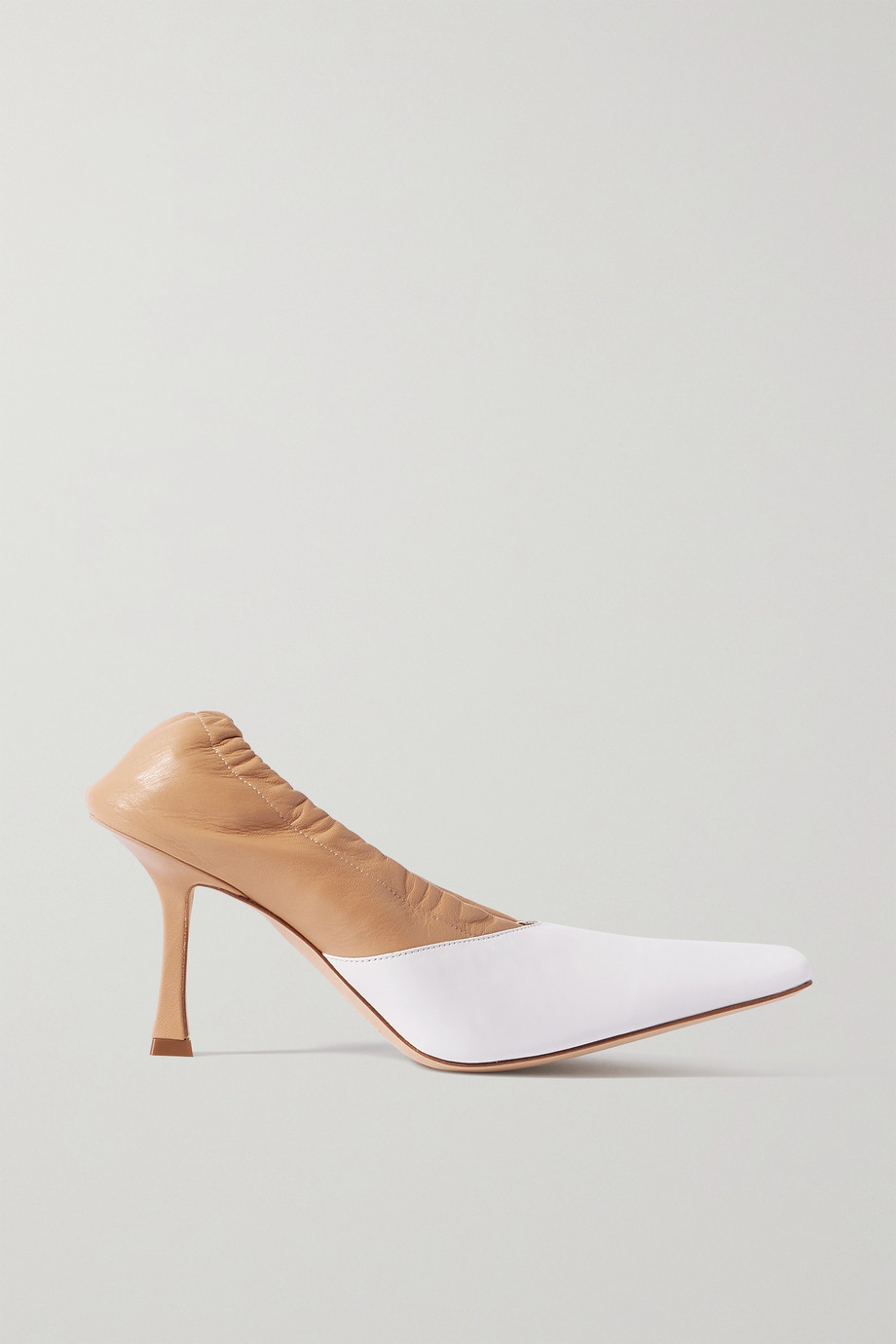 A.W.A.K.E. MODE Gertrud two-tone leather pumps