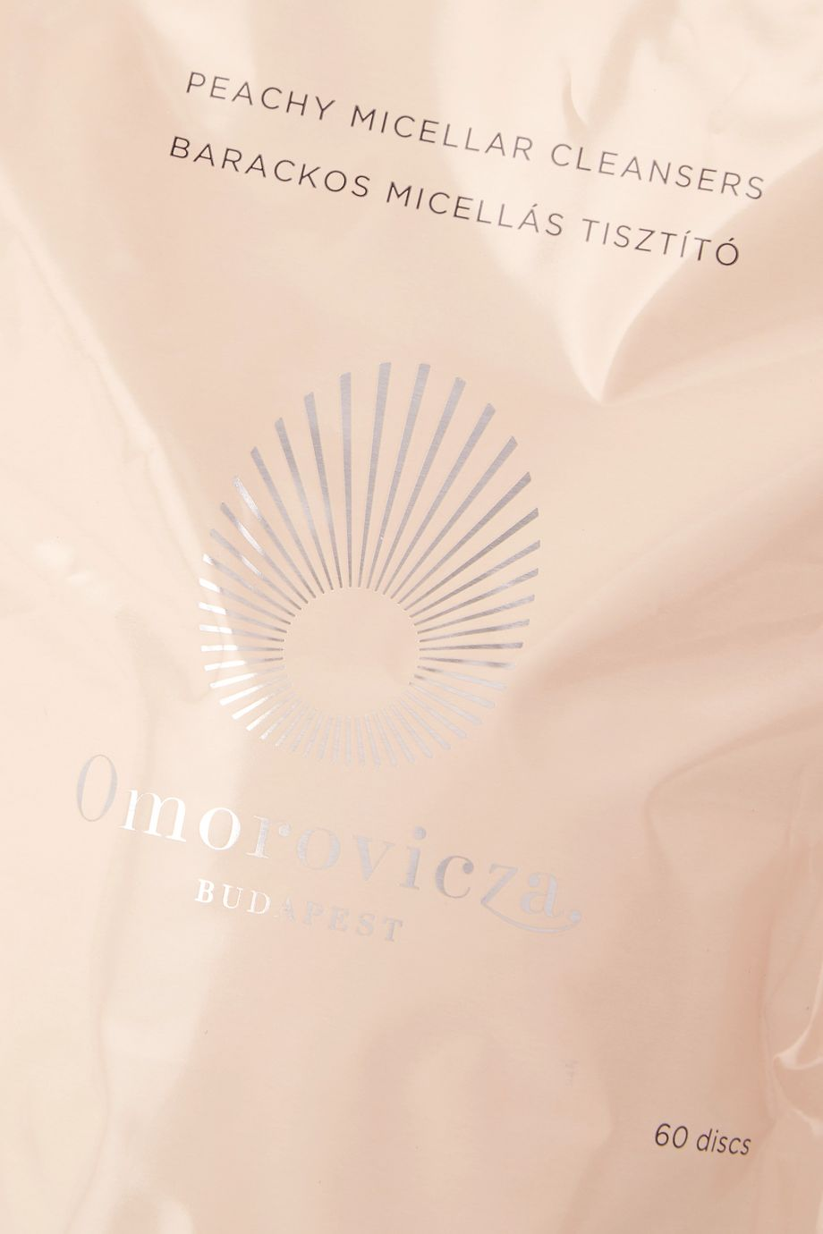 Omorovicza Peachy Micellar Cleanser Refills, 60 discs