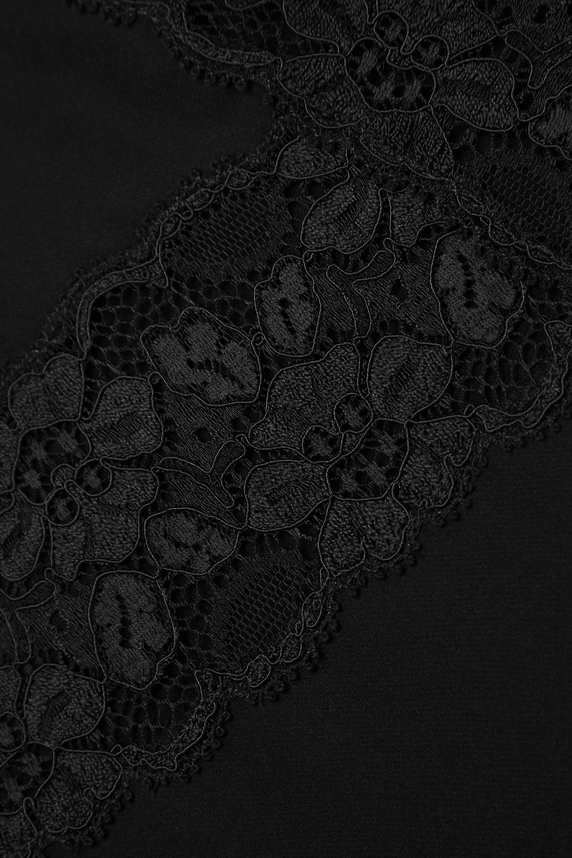 Loretta Caponi Benedetta Nachthemd aus Seiden-Georgette mit Spitzenbesätzen
