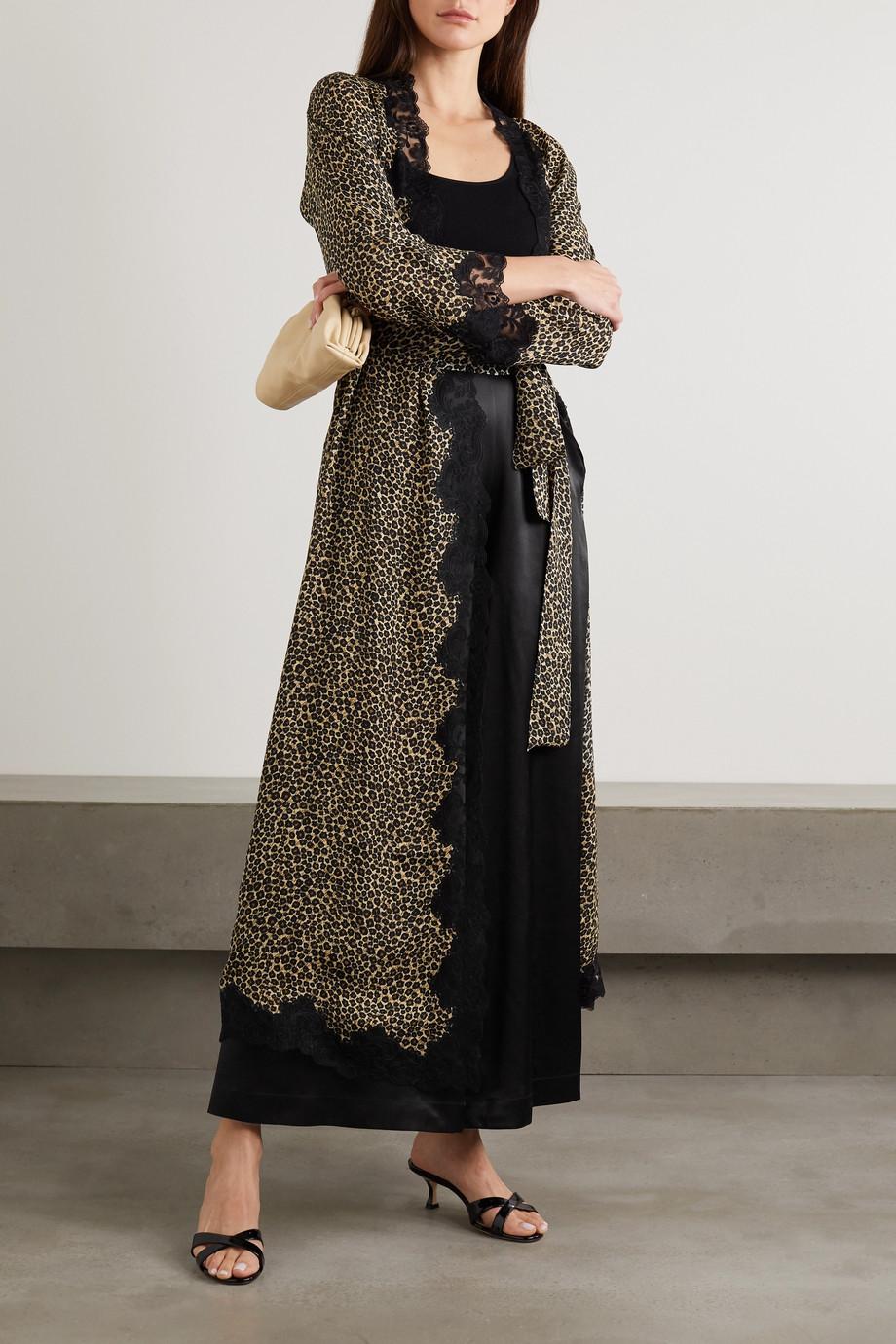 Loretta Caponi Sabrina silk-satin wide-leg pants
