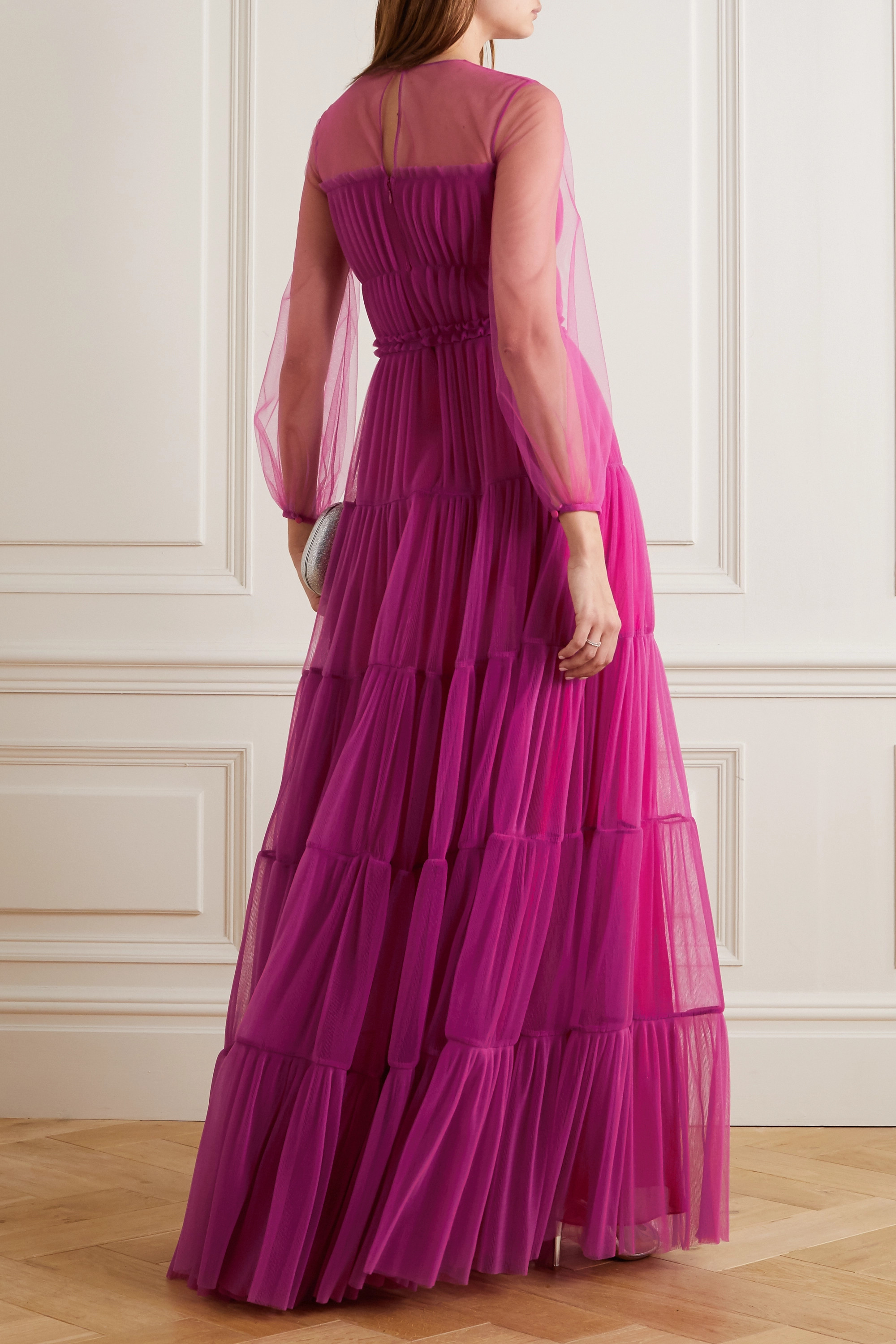 Ralph & Russo Tiered pleated tulle gown