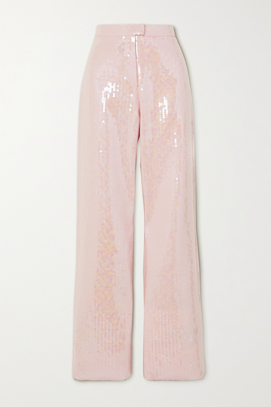 Ralph & Russo Sequined satin-crepe wide-leg pants