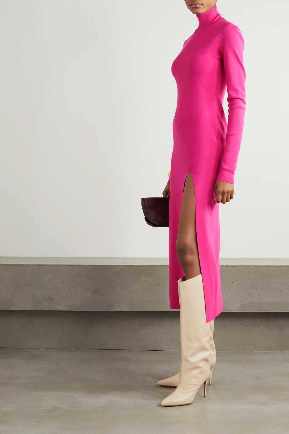 Zeynep Arçay Stretch-knit turtleneck midi dress