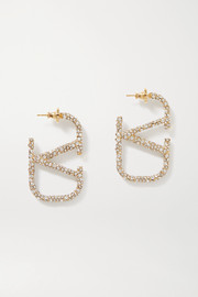 Valentino Valentino Garavani gold-tone crystal earrings