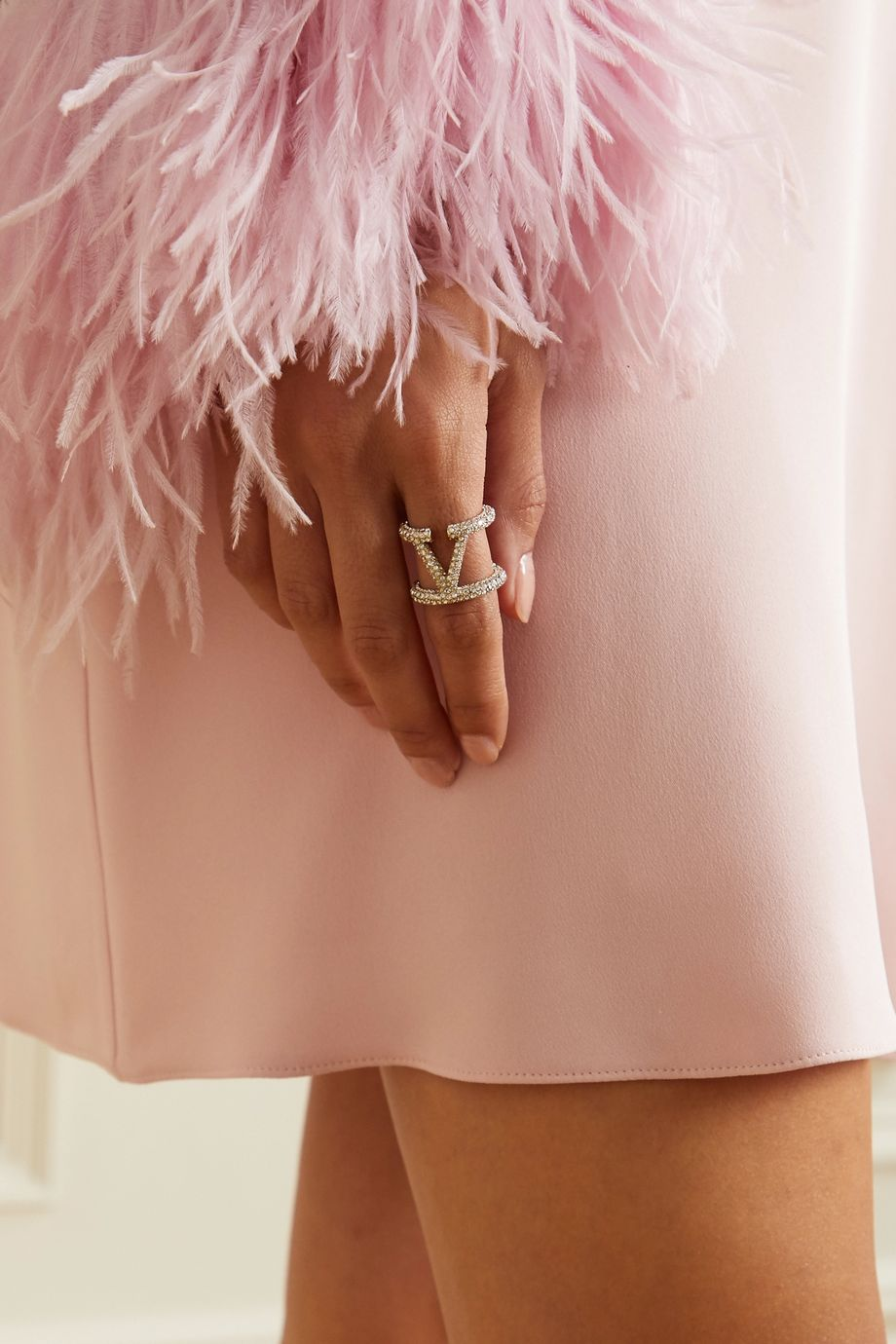 Valentino Valentino Garavani gold-tone crystal ring
