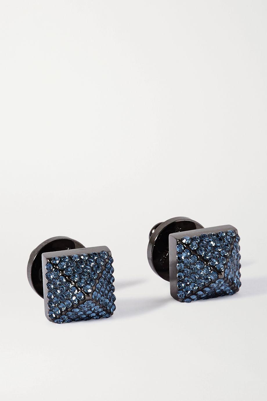 Valentino Valentino Garavani gunmetal-tone crystal earrings