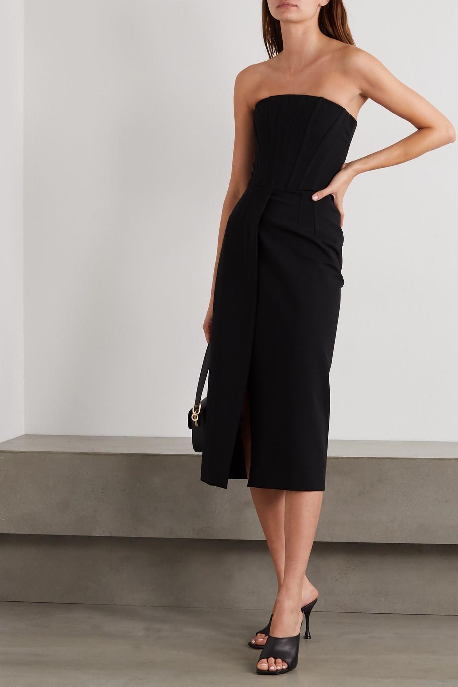 Dolce & Gabbana Trägerloses Midikleid aus Webstoff