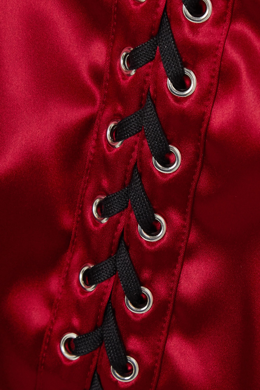 Dolce & Gabbana Lace-up satin mini dress