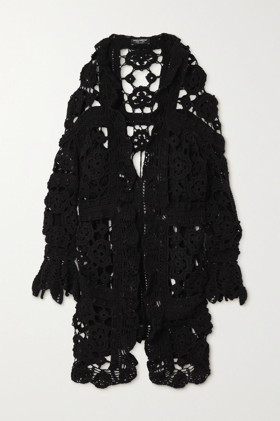Dolce & Gabbana Cardigan aus gehäkelter Wolle