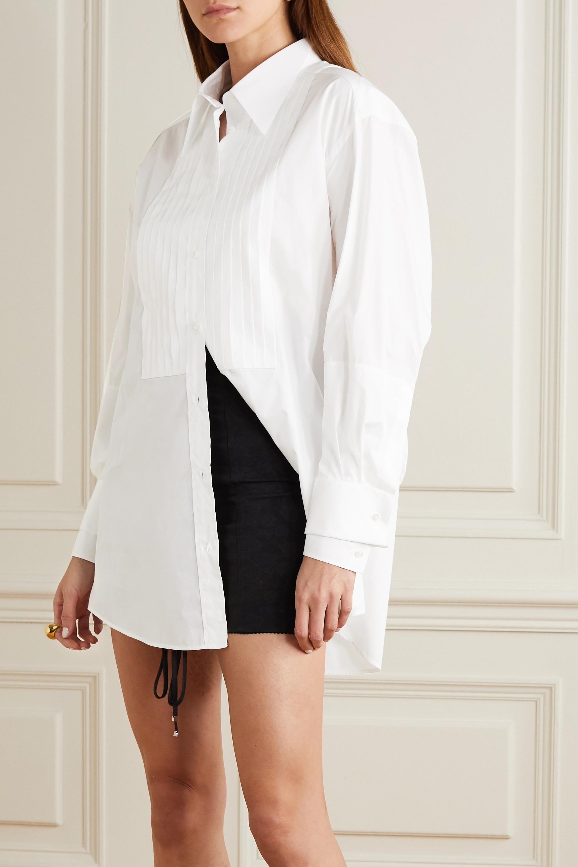 Dolce & Gabbana Chemise oversize en popeline de coton à plis nervures
