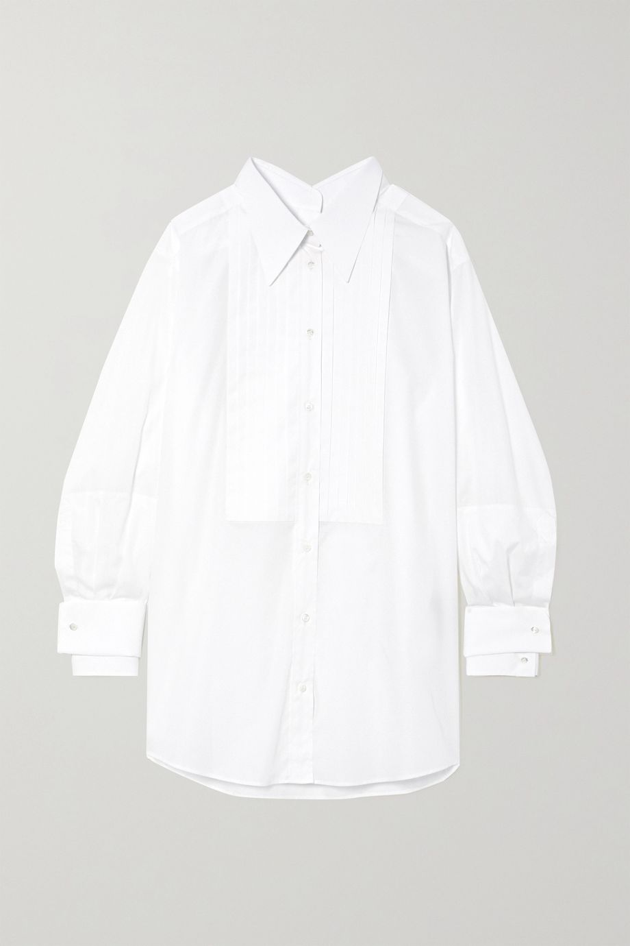 Dolce & Gabbana Oversized pintucked cotton-poplin shirt