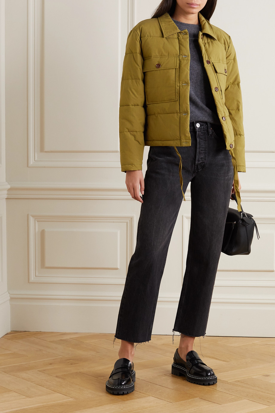 Alex Mill Quilted padded cotton jacket