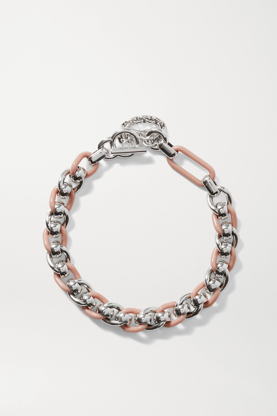 Bottega Veneta Silver-tone and resin necklace