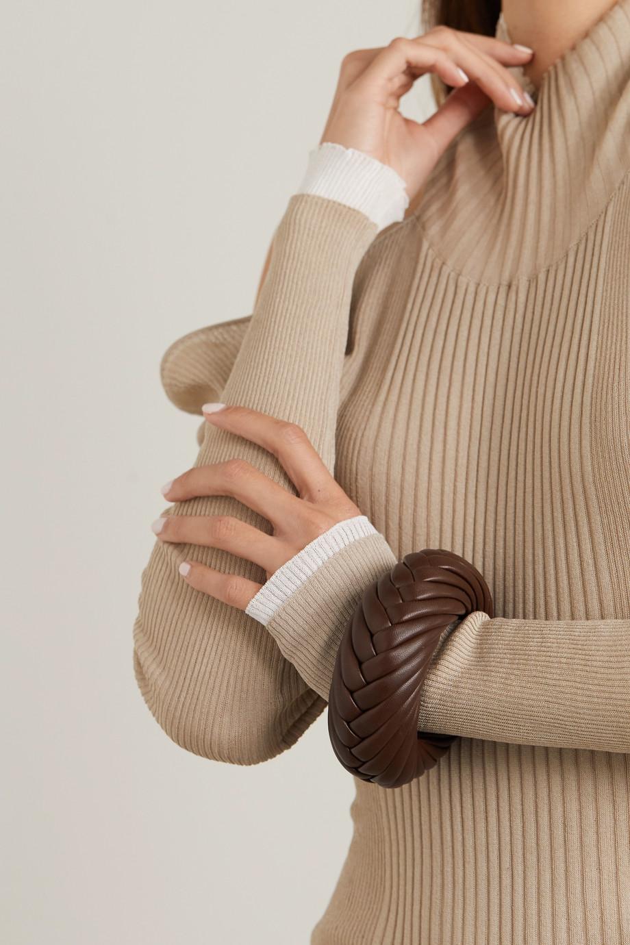 Bottega Veneta 编织皮革手镯